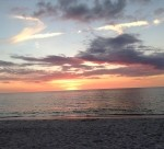 Fort Myers Beach Sunset on the Gulf of Mexico